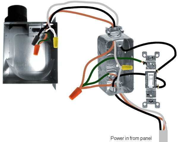 Wiring Diagram Exhaust Fan Switch : New bath exhaust fan wiring questions doityourself
