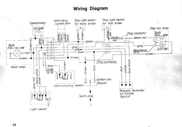 Moped wiring diagramwhats this resistor for doityourself name sachswiringg views 3235 size 308 kb ccuart Image collections