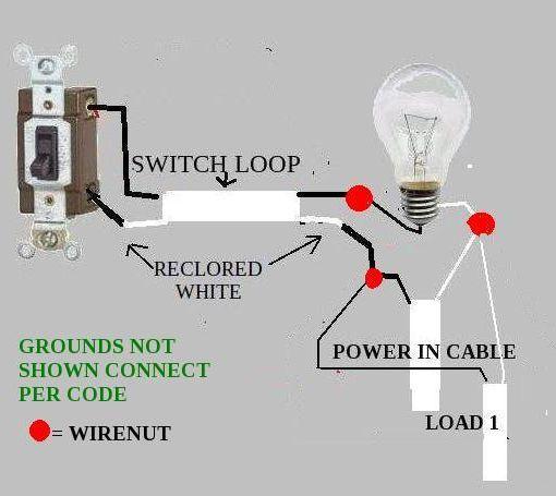 wiring a switch loop diagram a free printable wiring diagrams