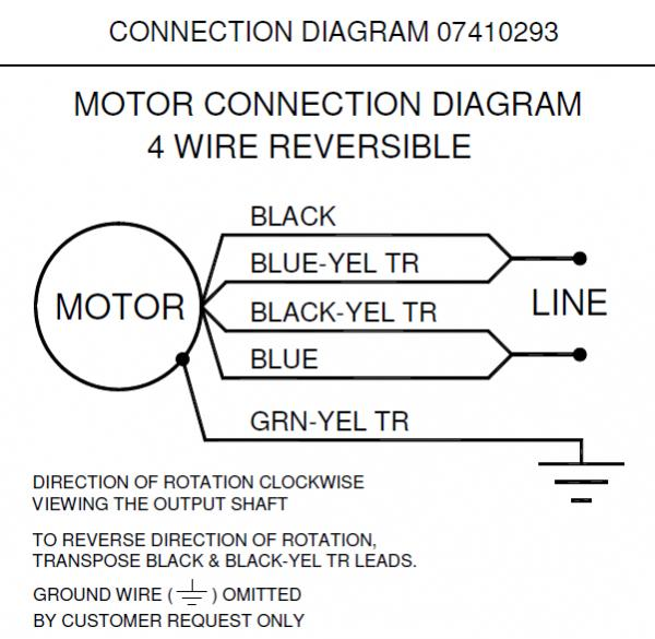 Bodine electric motor wiring diagram 4 wire dc motor for Schematic diagram of dc motor
