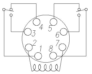 on ice cube for a relay control circuit wiring