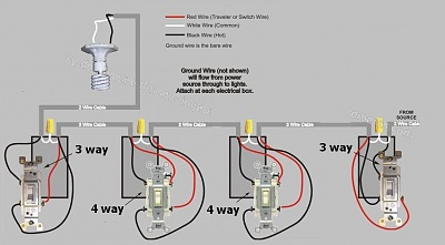 Way Switch Wiring Diagram Electrical on 3-way switch diagram, four-way switch diagram, 4-way circuit diagram, 4 wire switch diagram, 4 way to 4 way switch, 4-way lighting diagram,