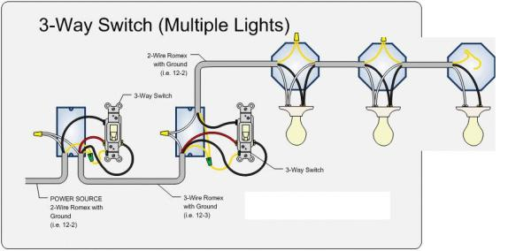 3 way switch 3 lights doityourself community forums