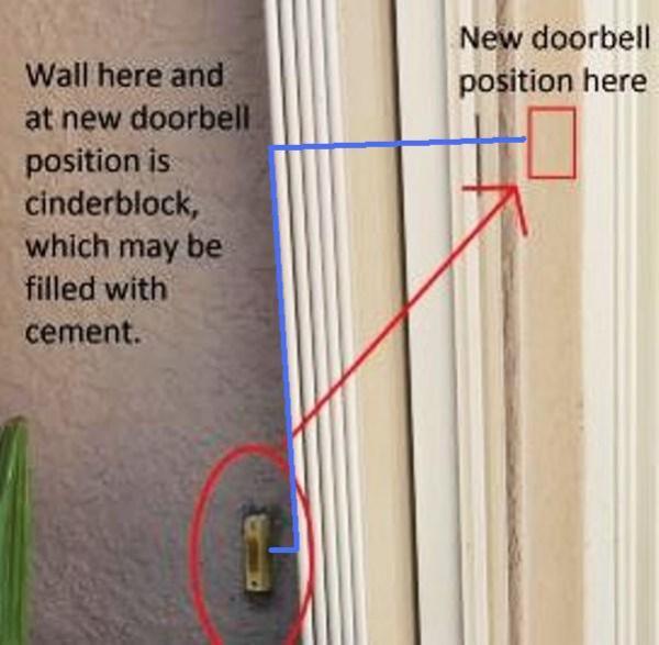 Re Locate Doorbell Button Doityourself Com Community Forums