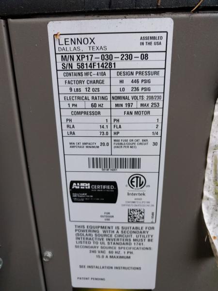Name:  Lennox_XP17_Data_Placard.jpg Views: 139 Size:  39.6 KB