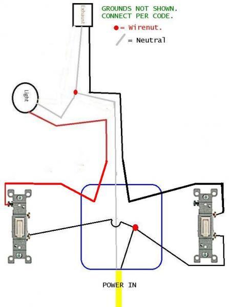 bathroom exhaust fan wiring diagram  | 447 x 600