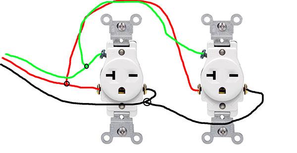 rj45 wall plug wiring diagram how to pigtail 240v receptacles? - doityourself.com ...