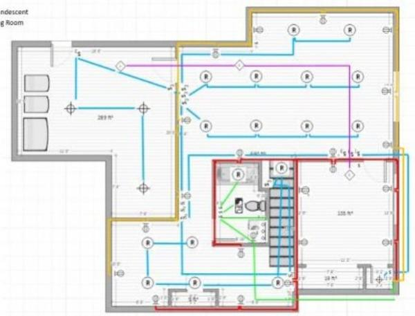 basement wiring diagram review doityourself com community forums rh doityourself com typical basement wiring diagram basement lighting wiring diagram