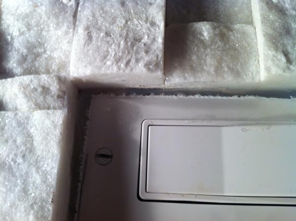outlet cover doesn 39 t fit in ledgestone backsplash