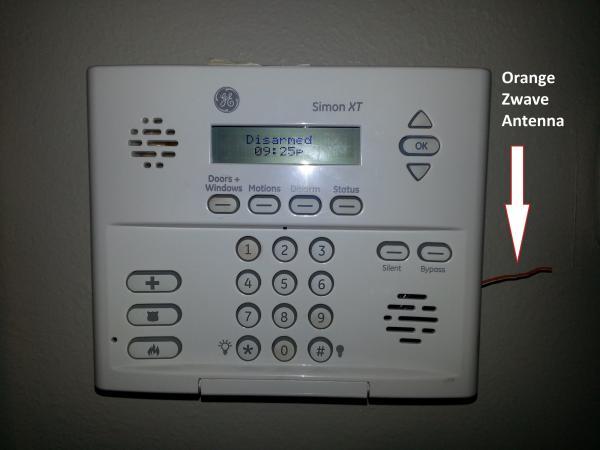 GE Simon XT / Alarm.com Zwave Antenna Question - DoItYourself.com ...