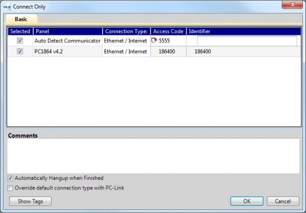 DSC PC1864/PC1832 installer menu