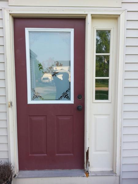 Exterior front door installation for Front door replacement
