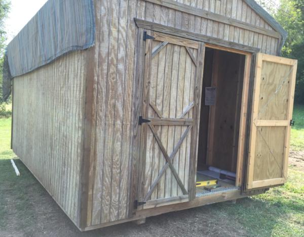 New Shed: Paint Advice for Old Treated Plywood Siding - DoItYourself ...