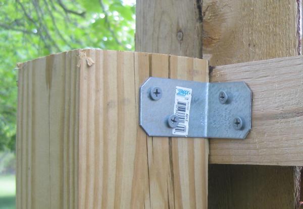 marvellous wooden fence post brackets 8