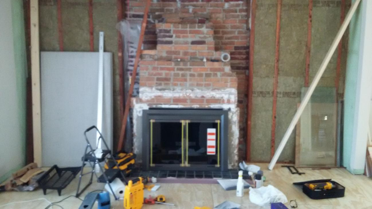 Frame Around Masonry Fireplace For Stone Veneer Support Community Forums
