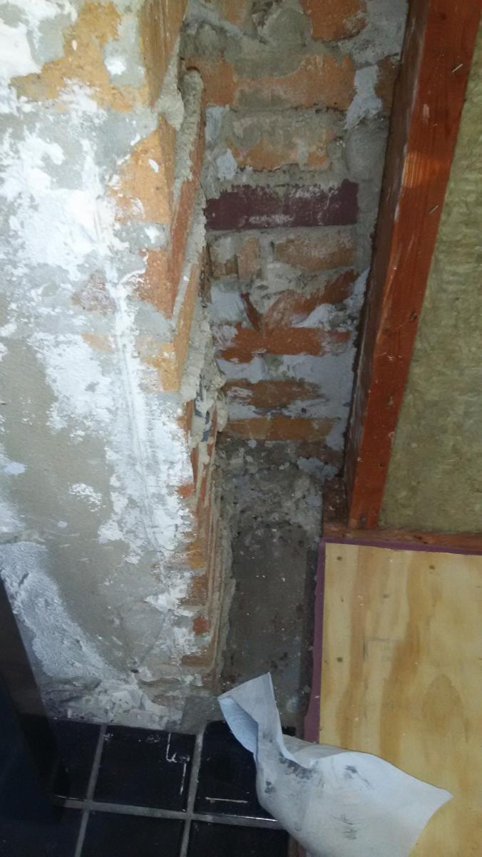 Frame Around Masonry Fireplace For Stone Veneer Support