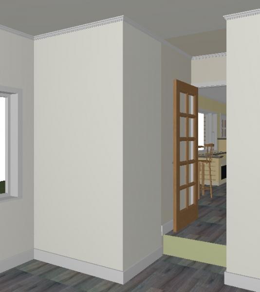 Framing walls & raised floor for bathroom conversion - DoItYourself ...