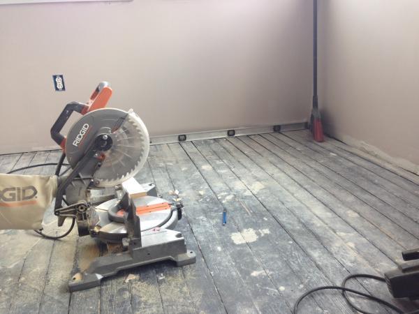 Leveling Wood Plank Subfloor For Hardwood Installation