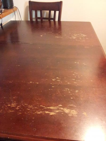 refinishing the dining table community forums. Black Bedroom Furniture Sets. Home Design Ideas