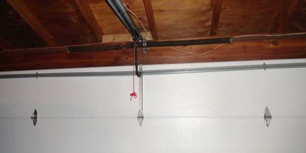 Garage door has damaged horizontal brace due to