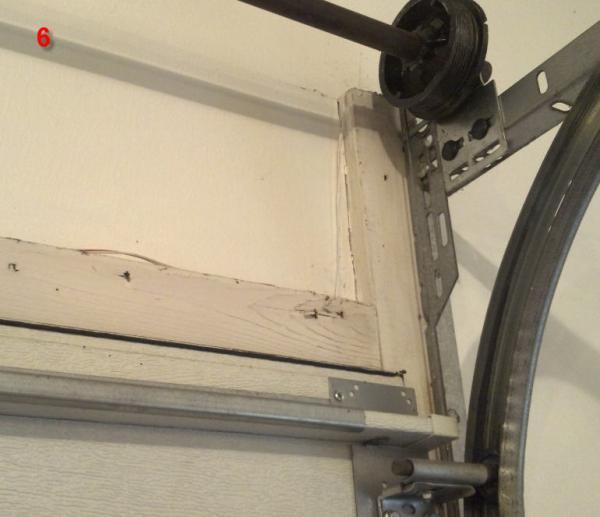 How To Fix Rotting Wood In The Top Of Garage Door Opening