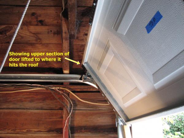What will shortening vertical tracks do to door operation for Garage door heights
