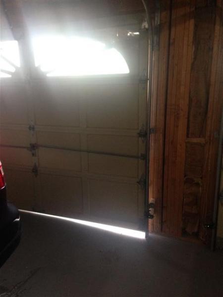 how to level a garage doorLeveling garage door  DoItYourselfcom Community Forums