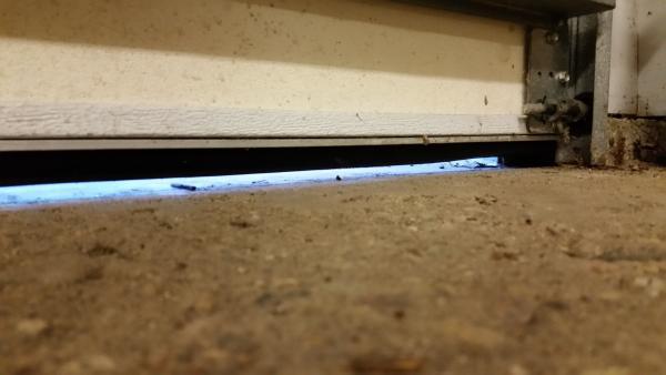 New Garage Door Bottom Seal Now Door Won T Sit Level