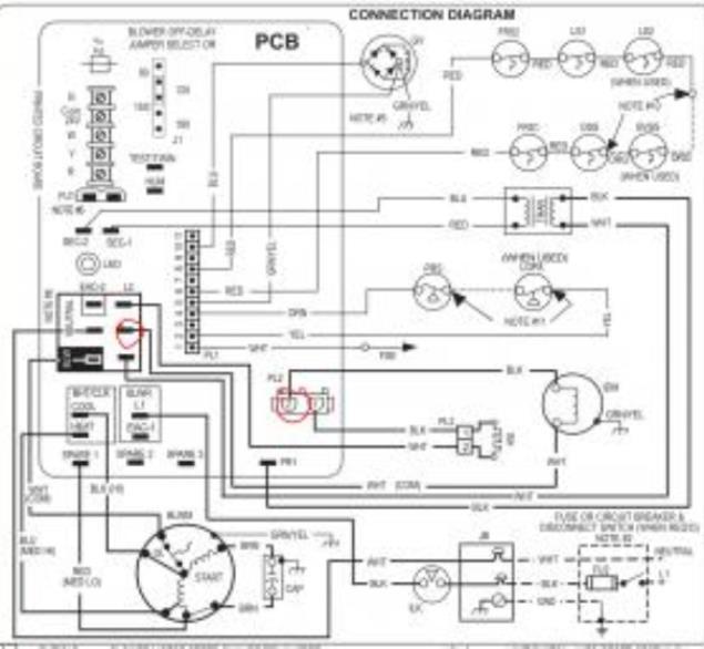 gas furnace inducer motor has no power