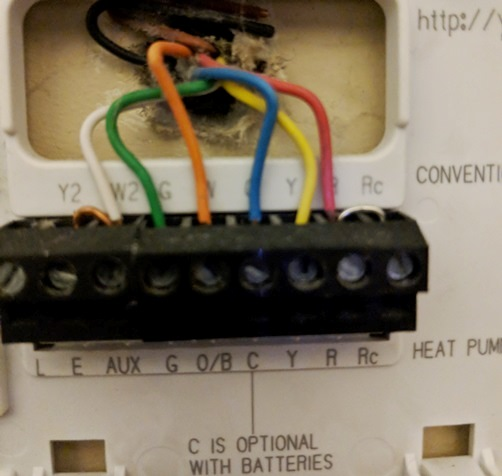 Thermostat wiring and jumpers - DoItYourself.com Community ... on