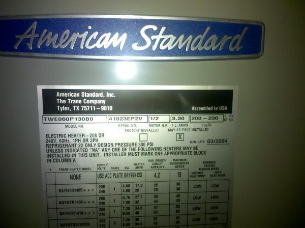 Manual For American Standard Heat Pump Doityourself Com