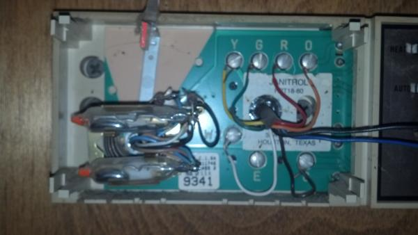 replacing a goodman janitrol hpt 18 60 thermostat