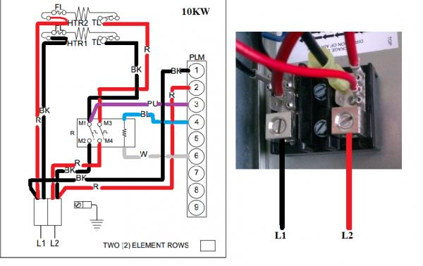 heat pump wiring diagram t stat wires electric furnace heat pump wiring diagram wiring to heat strip for heat pump system. - doityourself ...