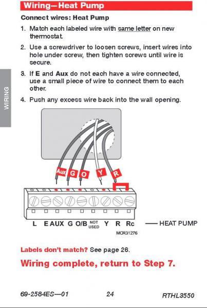 Fridge Hvac Thermostat Wiring Trane Heat Pump Thermostat Wiring