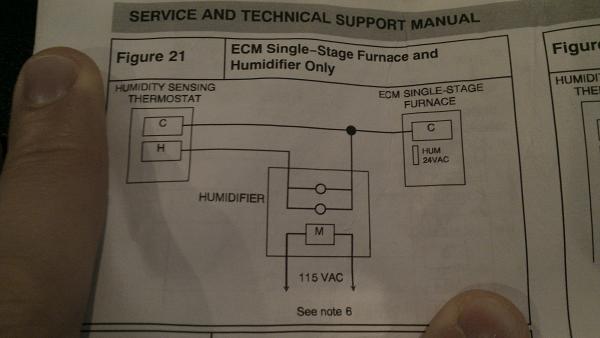 Aprilaire 600  Auto  Install On Comfortmaker Furnace