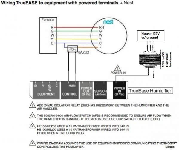 Trueease He250   Nest Wiring   Trane Xv90