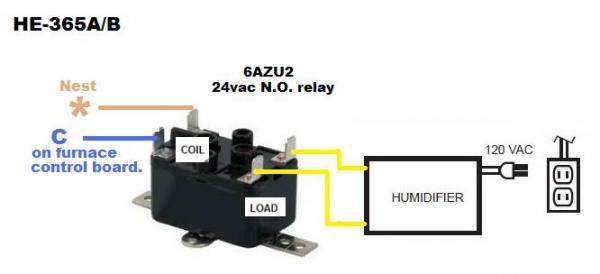 Nest  U0026 Honeywell Enviracare He365b Wiring