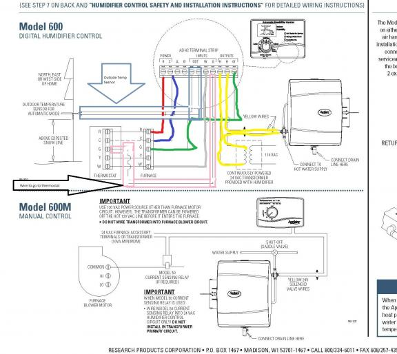 humidistat wiring diagram manual humidistat wiring diagram aprilaire 600 installation questions - doityourself.com ...