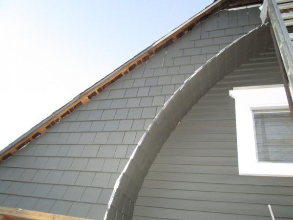 Insulation Behind Gable With Cedar Shingle Siding