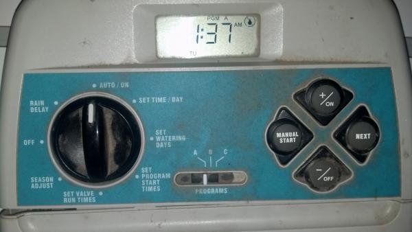 Sprinkler Control Panel : Toro irrigation timer not working doityourself