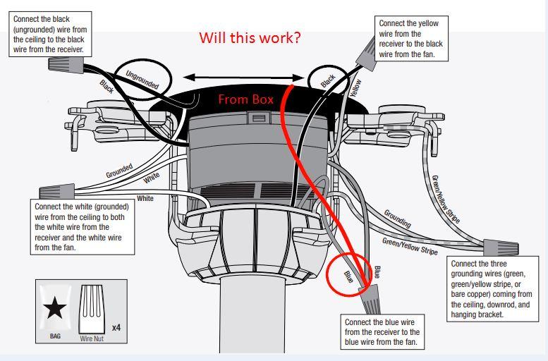 Blue Wire Hunter Ceiling Fan Wiring Diagram from www.doityourself.com