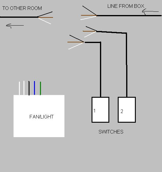 another vent  light  dual switch wiring question