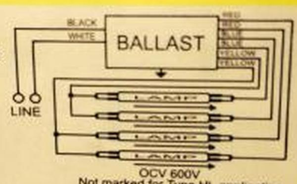 2 T12 ballasts to 1 T8 ballast running 4 fluorescent bulbs ...  Bulb Ballast Wiring Diagram Series on ballast replacement diagram, two lamp ballast wire diagram, 2 bulb ballast wiring diagram, fluorescent fixtures t5 circuit diagram, 4 bulb ballast wiring two, 4 pin ballast wiring diagram,