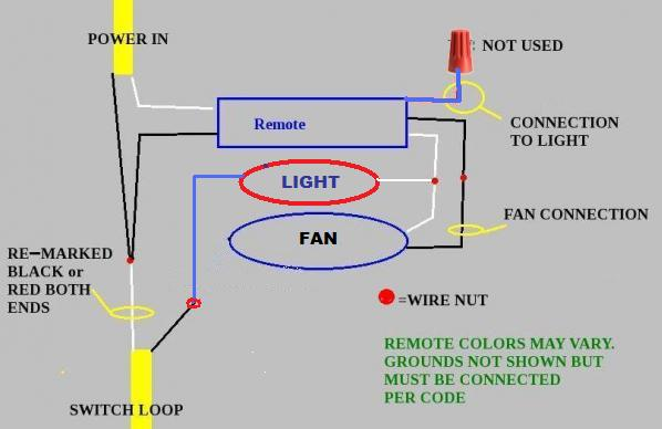 30407d1398210395 ceiling fan remote 2 wires x wiring a ceiling fan with light and remote integralbook com ceiling fan light wiring harness at mifinder.co