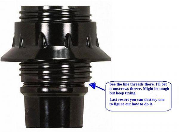 How to take apart lamp socket 80/1094? - DoItYourself.com