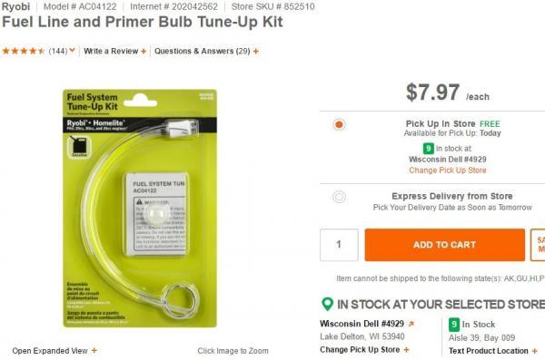 Homelite Primer Bulb Home Depot