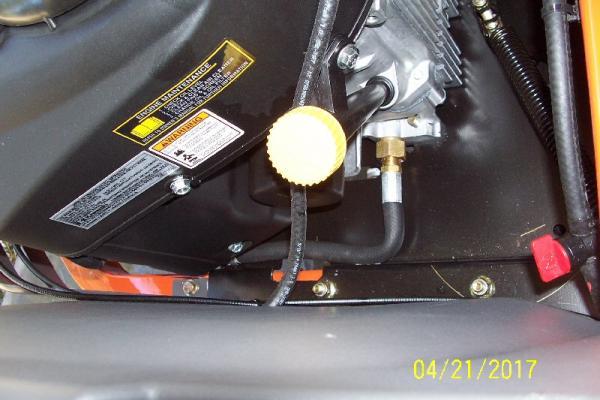 Kawasaki FR600V Engine Oil Change - Oil Plug - DoItYourself