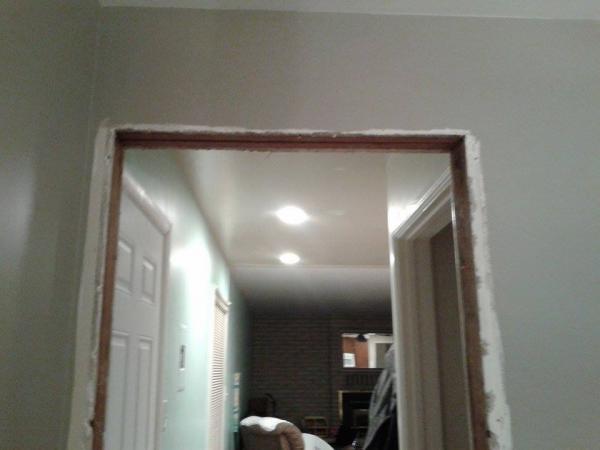How do I finish these plaster corners around doorway