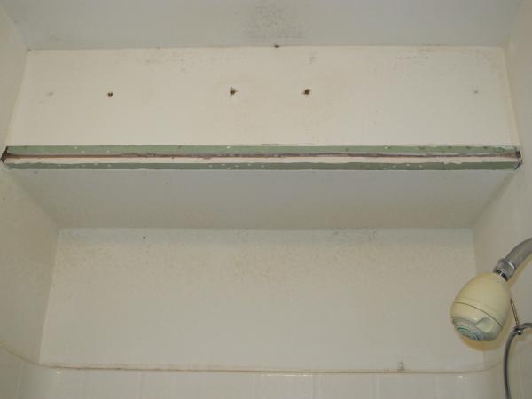 Bathroom shower metal corner drywall bead rusted need for Bathroom drywall code