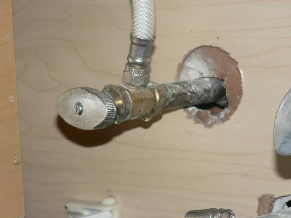 Leak Near A Quarter Turn Valve Undersink Plumbing